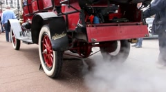 Old timer Stanley steam car in Baden-Baden. Germany Stock Footage