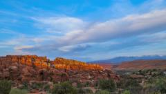 Fiery Furnace Overlook Arches National Park Stock Footage