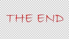 The end title Stock Footage