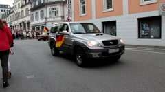 Celebration of German national football team victory. Baden-Baden. Germany. Stock Footage