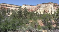 Beautiful desert mountains Zion National Park Utah 4K 169 Stock Footage