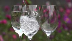 Clean Water is Poured into a Glass Stock Footage