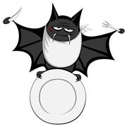 funny freaky bat - stock illustration