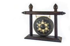 thai native gong isolated on white background. - stock photo