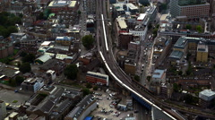 British Railway aerial shot Stock Footage