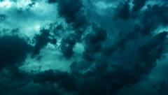 Dramatic storm clouds (dark cinematic) - stock footage
