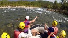 Whitewater rafting  in Turkey. POV Stock Footage