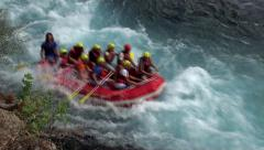 Whitewater rafting along the Köprüçay river in Turkey - stock footage