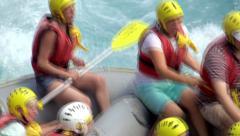 Whitewater rafting along the Köprüçay river in Turkey Stock Footage