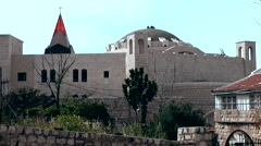 Western Asia Mediterranean Sea Israel Haifa 037 synagogue in modern architecture Stock Footage