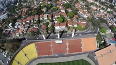 Aerial View from Estadio do Pacaembu in Sao Paulo, Brazil Stock Footage