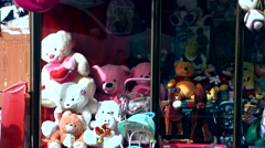 Western Asia Mediterranean Sea Israel Haifa 039 toy shop with teddy bears Stock Footage