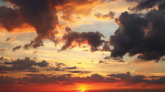 Red summer sunset Stock Footage