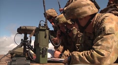 Forward air controllers FAC Coalition Fire Support Exercise - stock footage