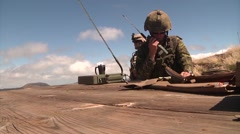 Forward air controllers FAC Coalition Fire Support Exercise Stock Footage