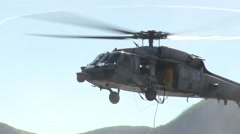 MH-60S Helicopter Casting and Special Patrol Insertion and Extraction operations Stock Footage