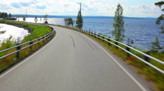 Road travel in Finland. - stock footage
