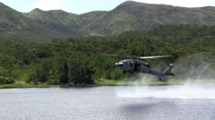 MH-60S Helicopter Casting and Special Patrol Insertion and Extraction operations - stock footage