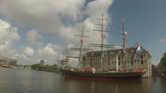 """Clipper """"Stad Amsterdam"""" Stock Footage"""