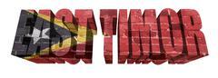 Stock Illustration of east timor word