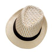 Weave hat isolated on white background, pretty straw hat isolated on white ba Stock Photos