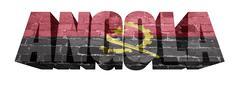 Stock Illustration of angola word