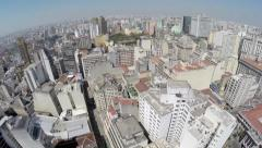 Aerial view from Sao Paulo Downtown, Brazil Stock Footage