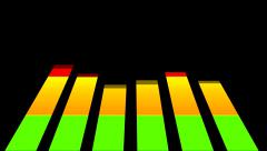3D LCD Colorful EQ Equalizer Volume Bar Display - Beat Loop - No F/X - stock footage