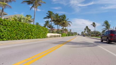 Stock Video Footage of hyperlapse A1A West Palm Beach FL