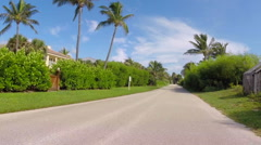 Palm Beach drive through A1A 3 Stock Footage