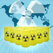 nuclear threat - stock illustration