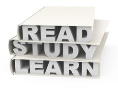 read, study and learn - stock illustration