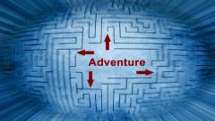 Adventure maze pixel beams Stock Footage