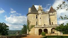 Chateau des Milandes - Castlenaud-la-Chapelle France - HD 4k+ Stock Footage