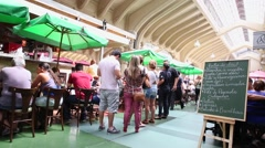 Restaurants at Municipal Market (Mercado Municipal) in Sao Paulo. Stock Footage