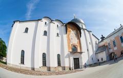 saint sophia cathedral at novgorod kremlin. - stock photo