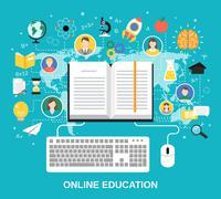 Online education concept Stock Illustration