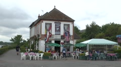 The Gondree Cafe beside Pegasus Bridge, Normandy, France. Stock Footage