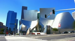 Walt Disney Concert Hall in Los Angeles, California, BlackMagic 4K Camera Stock Footage