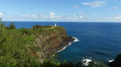 Kilauea Lighthouse, Kauai, Hawaii - stock footage