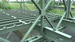 Bailey Bridge on display in the Pegasus Bridge Museum, Normandy, France. Stock Footage
