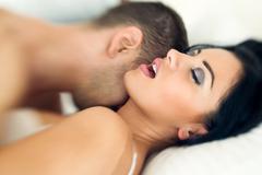 Couple having sexual intercourse Stock Photos