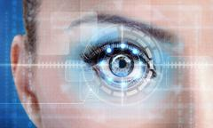 Stock Illustration of technology scan female eye for security or identification