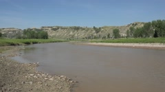P03892 Beautiful Scenery of the LIttle Missouri River in North Dakota Stock Footage
