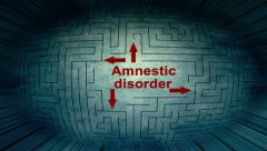 Amnestic disorder maze pixel beams Stock Footage