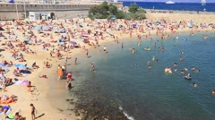 Antibes plage Stock Footage