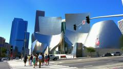 4K, UHD, Walt Disney Concert Hall in Los Angeles, California, BlackMagic Camera Stock Footage