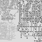 Microchip background, electronic circuit, EPS10 vector illustration - stock illustration
