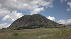 P03897 Bear Butte Indian Sacred Site in South Dakota Great Plains - stock footage
