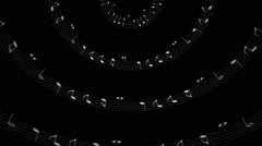 Music Notes Sphere insidei - stock footage